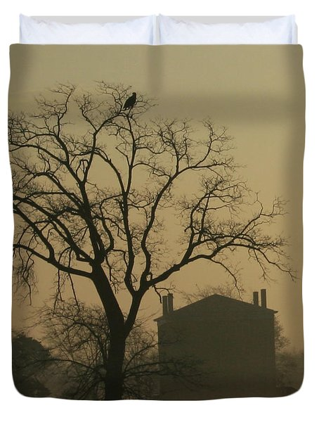 Halfway House And Eagle Duvet Cover