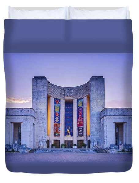 Hall Of State Texas Duvet Cover