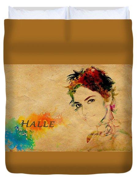 Halle Berry  Duvet Cover