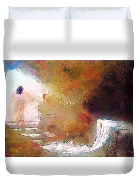 Hallelujah, He Is Risen Duvet Cover