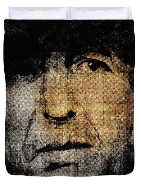 Hallelujah Leonard Cohen Duvet Cover
