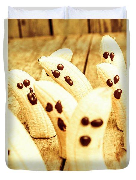 Halloween Banana Ghosts Duvet Cover