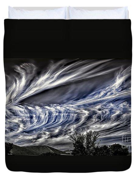 Halloween Clouds Duvet Cover by Walt Foegelle