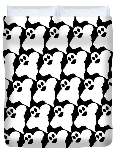 Halloween Ghosts Duvet Cover
