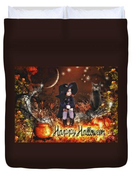 Halloween Girl Duvet Cover