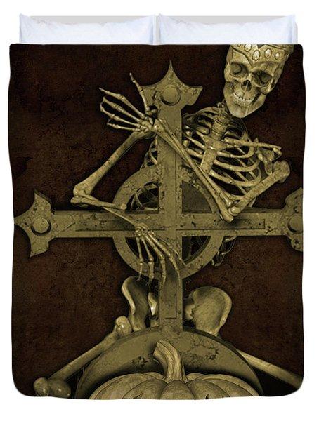Halloween Graveyard-a Duvet Cover