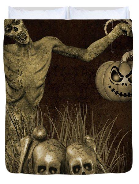 Halloween Graveyard-b Duvet Cover