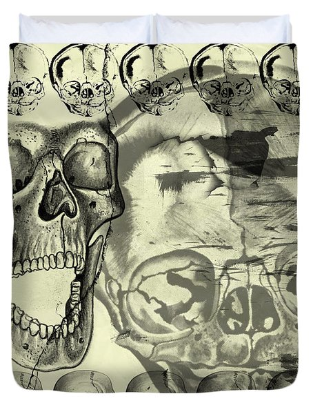 Halloween In Grunge Style Duvet Cover by Michal Boubin