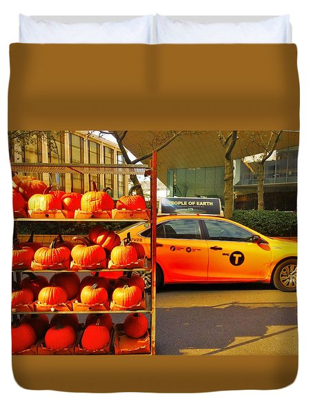 Halloween In New York  Duvet Cover