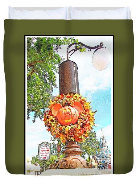 Halloween In Walt Disney World Duvet Cover