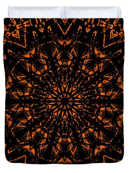 Halloween Kaleidoscope 2 Duvet Cover