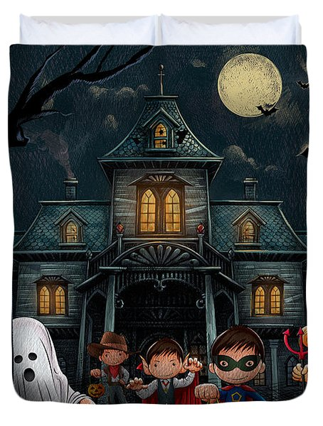 Halloween Kids Night Duvet Cover