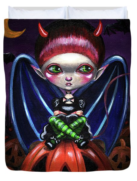 Halloween Little Devil Duvet Cover