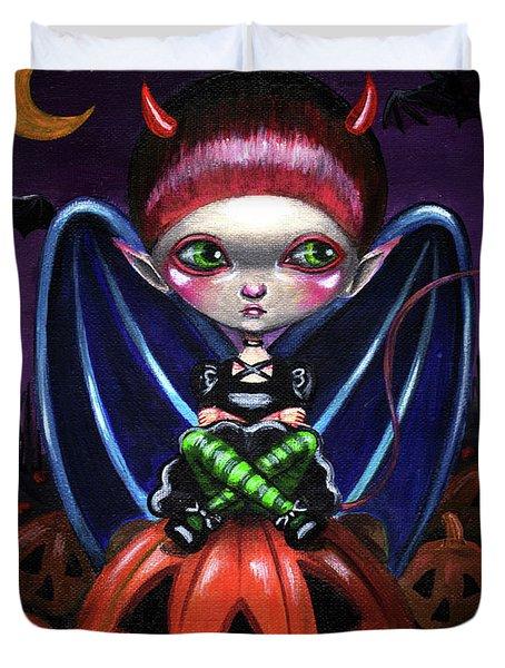 Halloween Little Devil Duvet Cover