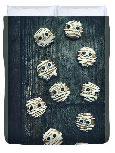 Halloween Mummy Cookies Duvet Cover