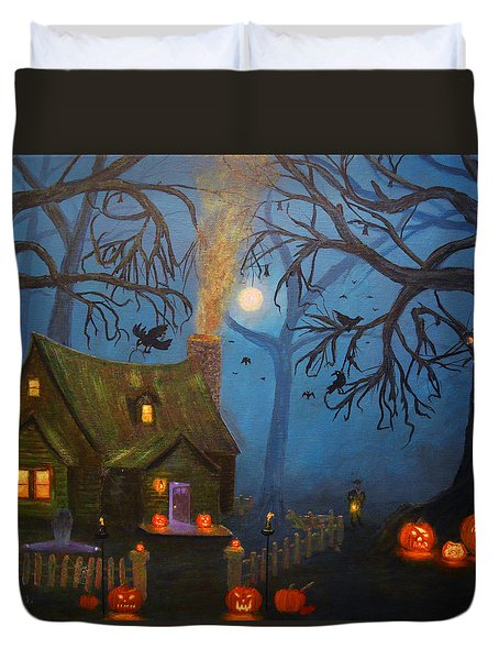 Halloween Night Duvet Cover