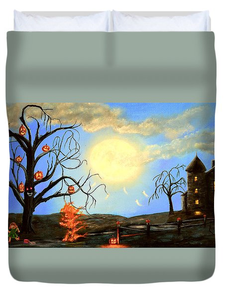 Halloween Night Two Duvet Cover