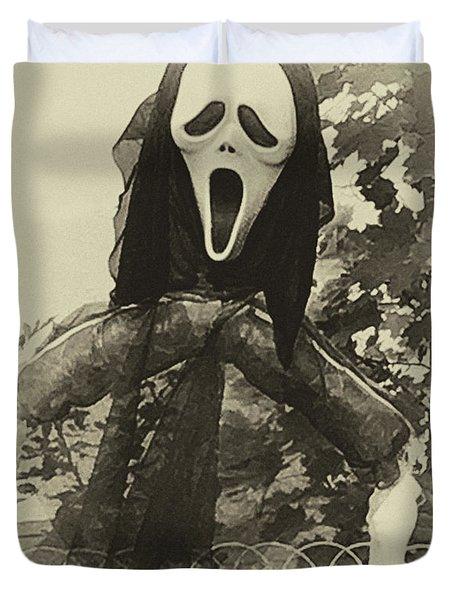 Halloween No 1 - The Scream  Duvet Cover