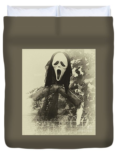 Halloween No 1 - The Scream  Duvet Cover