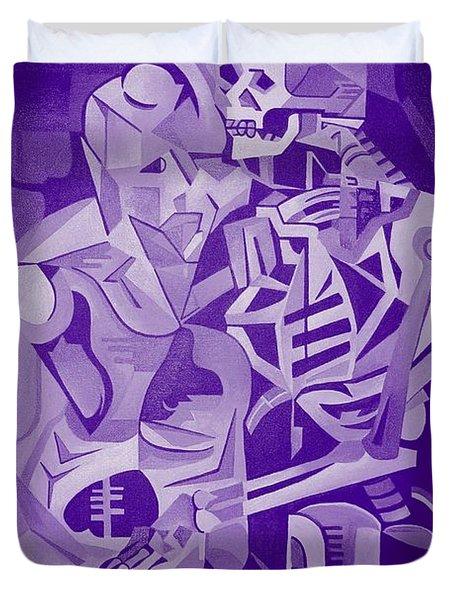 Halloween Skeleton Welcoming The Undead Duvet Cover