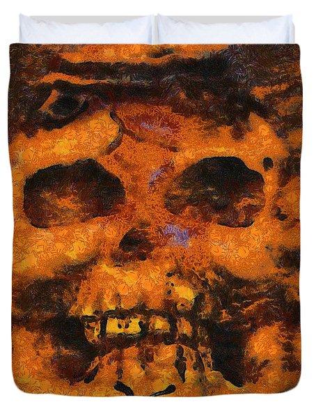 Halloween Skull Duvet Cover