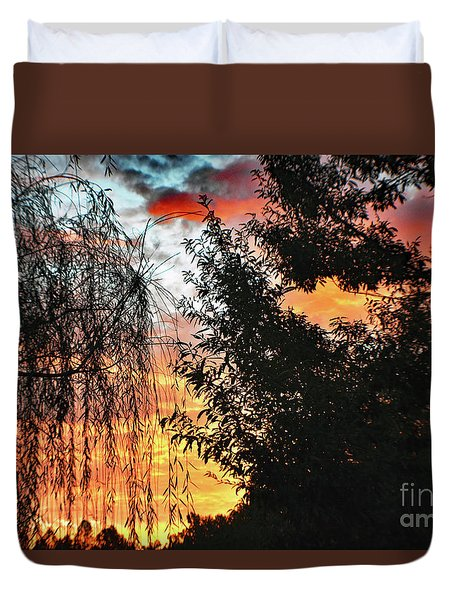 Halloween Sunrise 2015 Duvet Cover