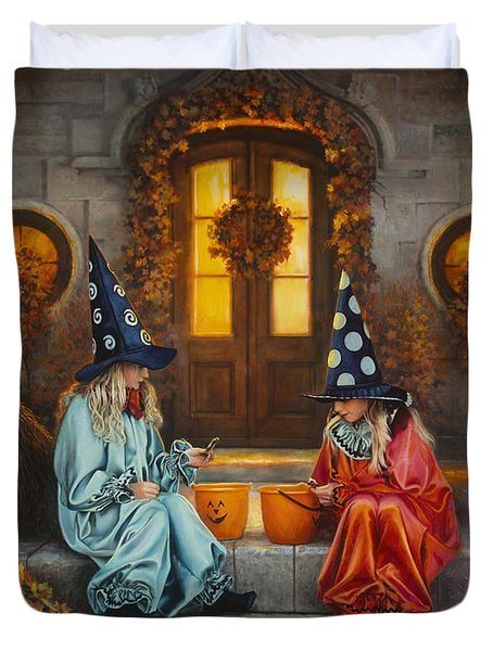 Halloween Sweetness Duvet Cover by Greg Olsen