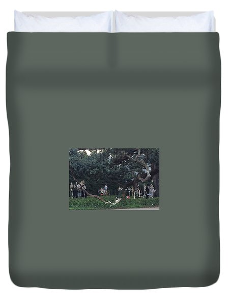 Halloween Yard Party Duvet Cover