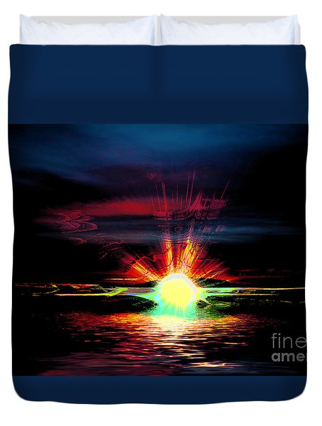 Hallucination Duvet Cover by Elaine Hunter