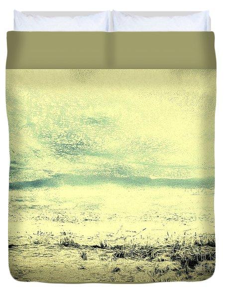 Hallucination On A Beach Duvet Cover