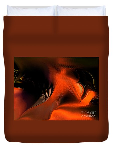 Hallucinogenic Element Duvet Cover by Yul Olaivar