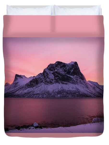Halo In Pink Duvet Cover