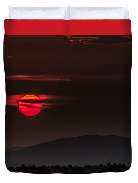 Haloed Sunset Duvet Cover by Tim Kirchoff
