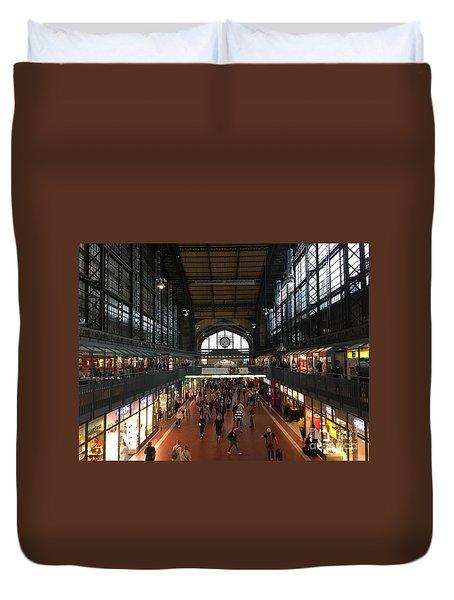 Hamburg Germany Trainstation Duvet Cover