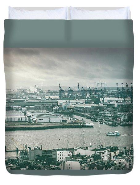 Hamburg Port  Duvet Cover