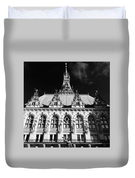 Hamburg Rathaus Duvet Cover
