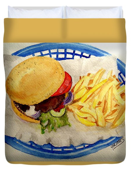 Hamburger Basket #2 Duvet Cover