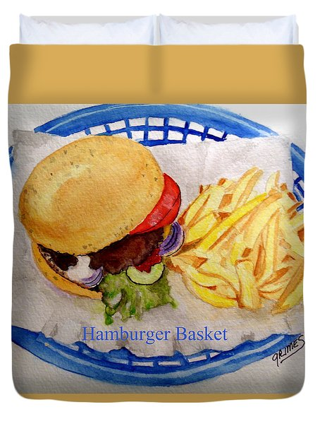 Hamburger Basket Duvet Cover