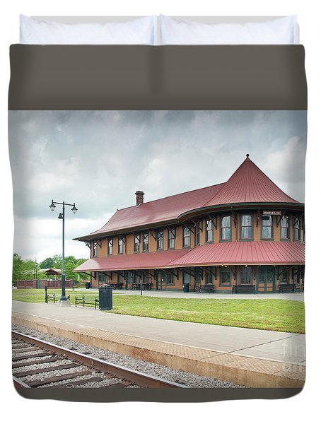 Hamlet North Carolina Depot Duvet Cover