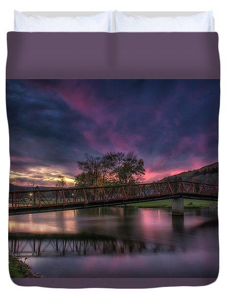 Hamlin Lake Sunset Duvet Cover