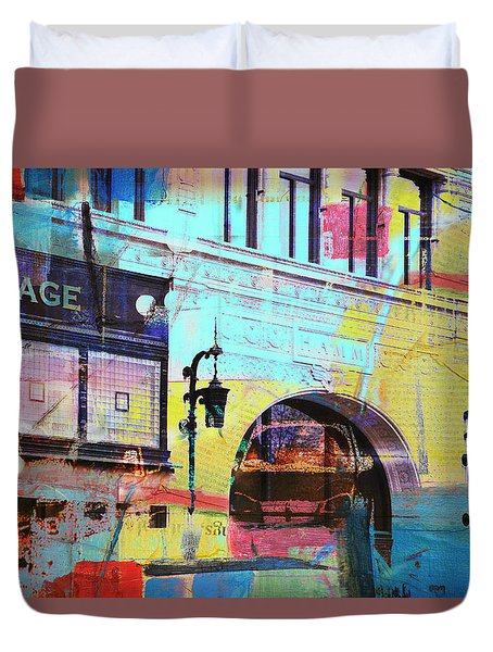 Duvet Cover featuring the photograph Hamm Building St. Paul by Susan Stone