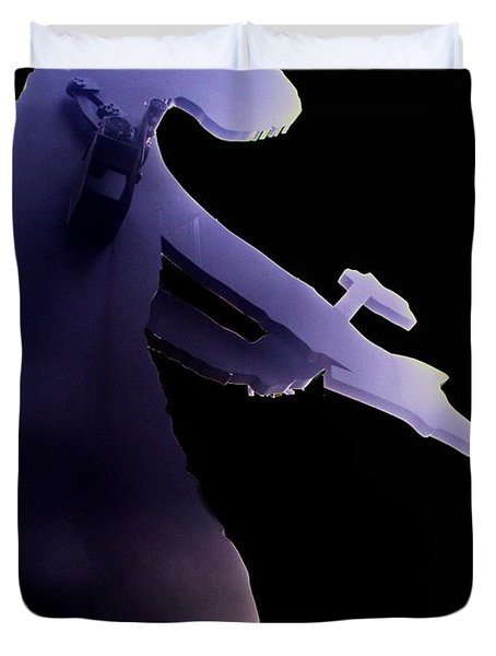 Hammering Man 2 Duvet Cover by Tim Allen