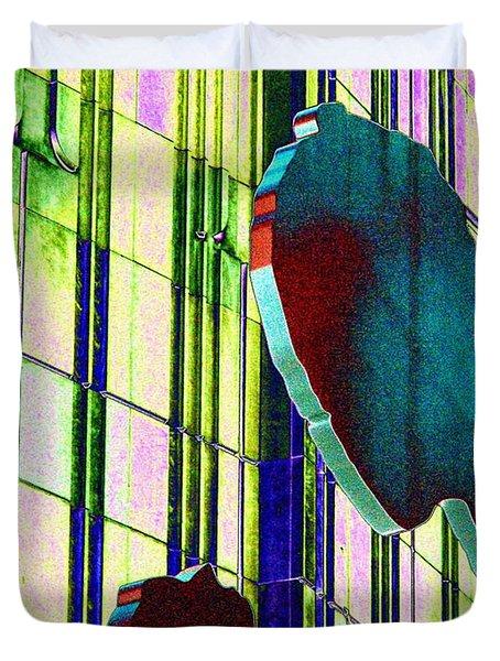 Hammering Man 3 Duvet Cover by Tim Allen