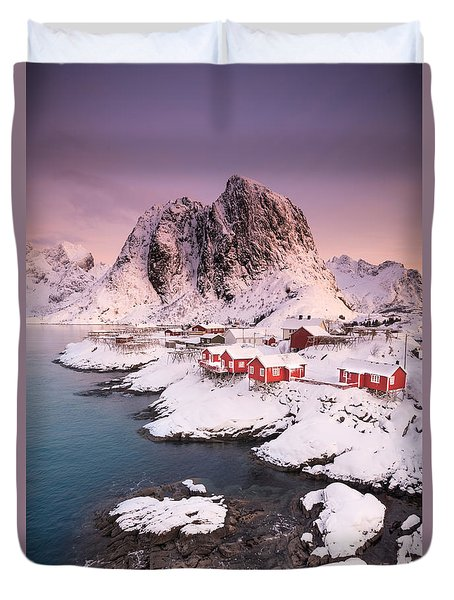 Hamnoy Duvet Cover by Alex Conu