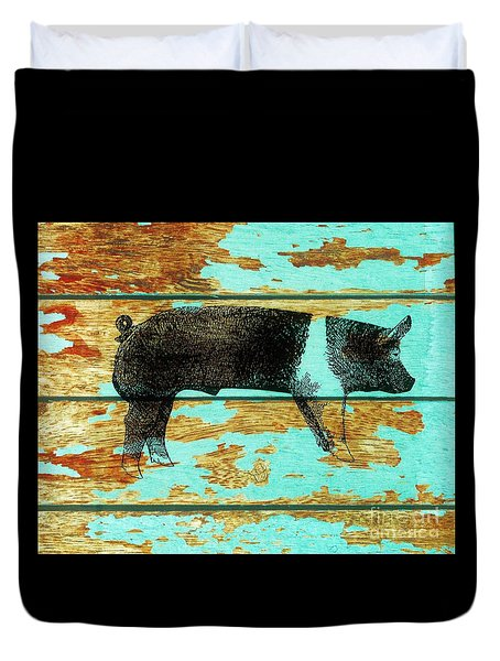 Hampshire Boar 1 Duvet Cover by Larry Campbell