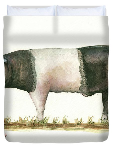 Hampshire Pig Duvet Cover
