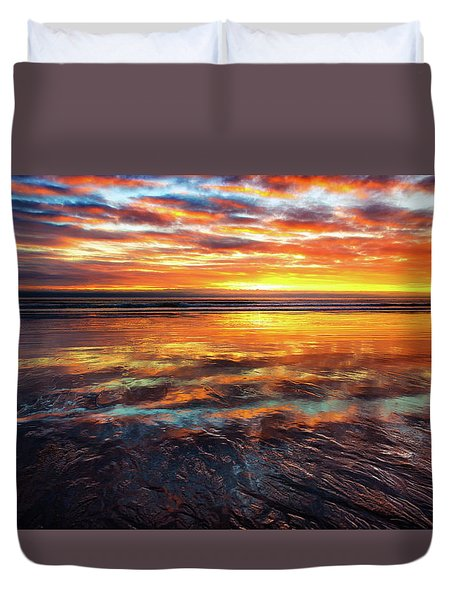 Hampton Beach Duvet Cover