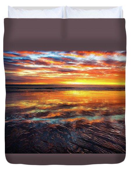 Hampton Beach Duvet Cover by Robert Clifford