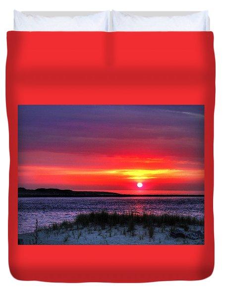 Hampton Beach Sunrise Duvet Cover