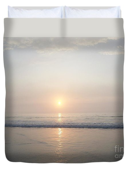 Duvet Cover featuring the photograph Hampton Beach Sunrise by Eunice Miller